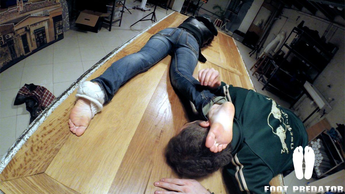 Sleepy feet worship